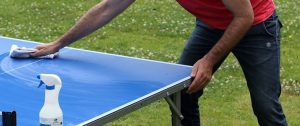 nettoyage table de ping pong
