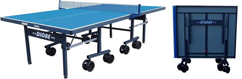 Table de ping-pong pliable avec roues