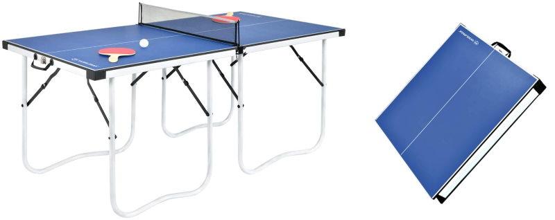 Table de ping-pong pliable sans roues